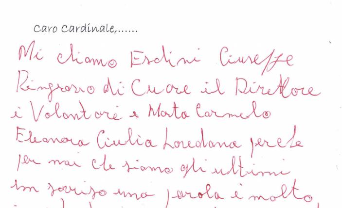 Caro Cardinale...